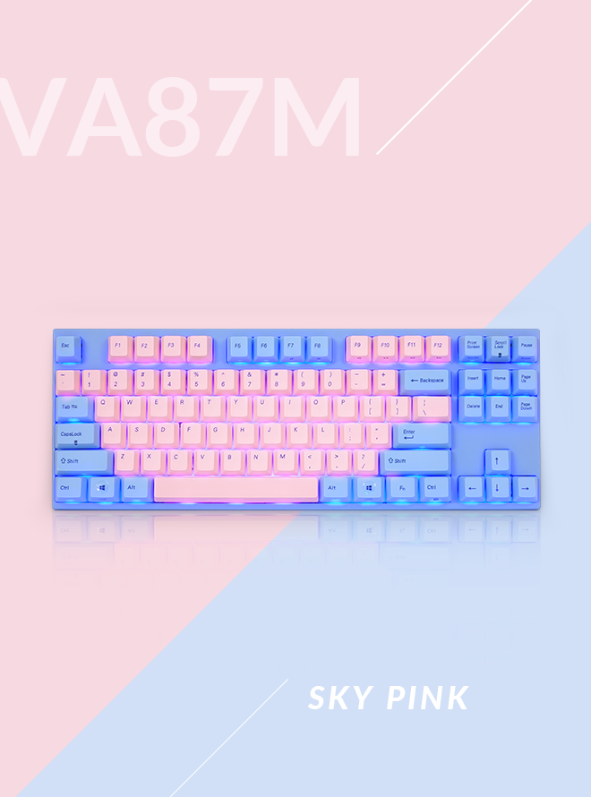 VA87M 스카이 핑크 PBT 염료승화 영문