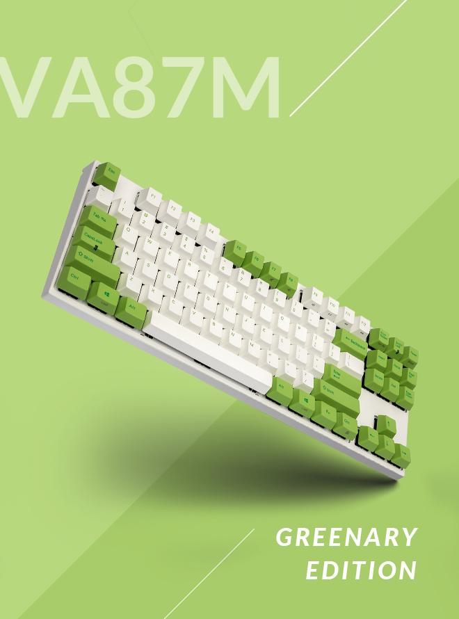 VA87M 그리너리 에디션 PBT 염료승화 영문
