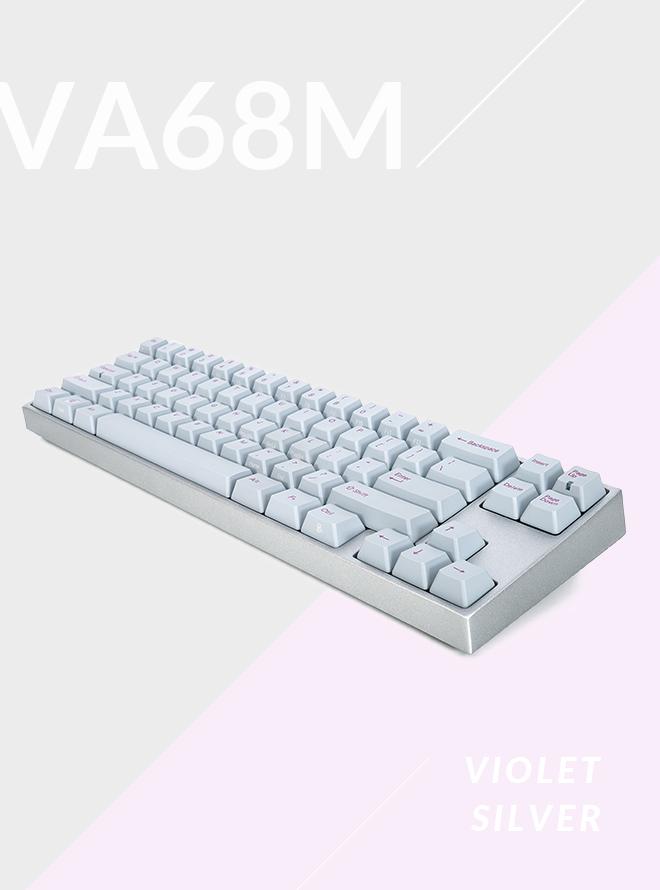 [리퍼S+등급] VARMILO VA68M 바이올렛 실버 PBT 염료승화 영문 청축