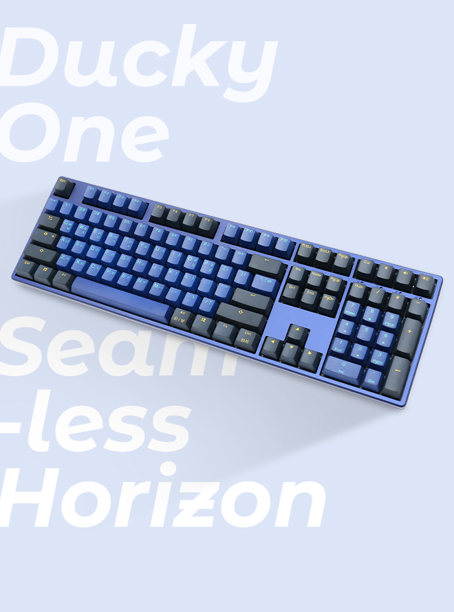 DUCKY ONE SEAMLESS HORIZON PBT 이중사출 영문