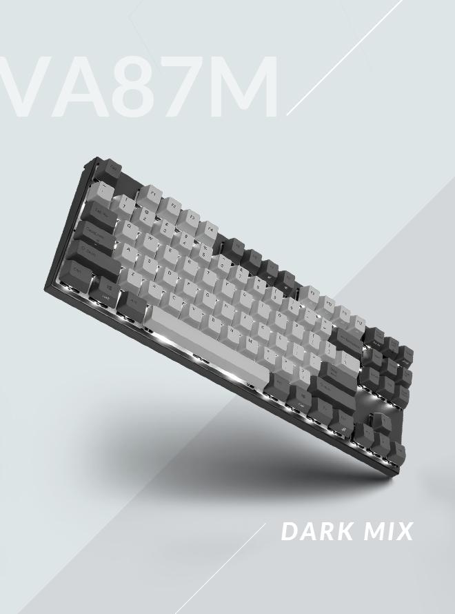 [리퍼S+등급] VA87M 다크믹스 RE PBT 염료승화 영문 적축