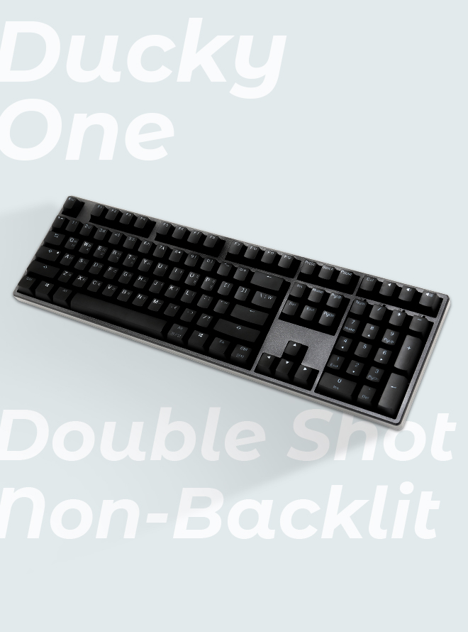 DUCKY ONE DOUBLE SHOT NON-BACKLIT PBT 이중사출 한글