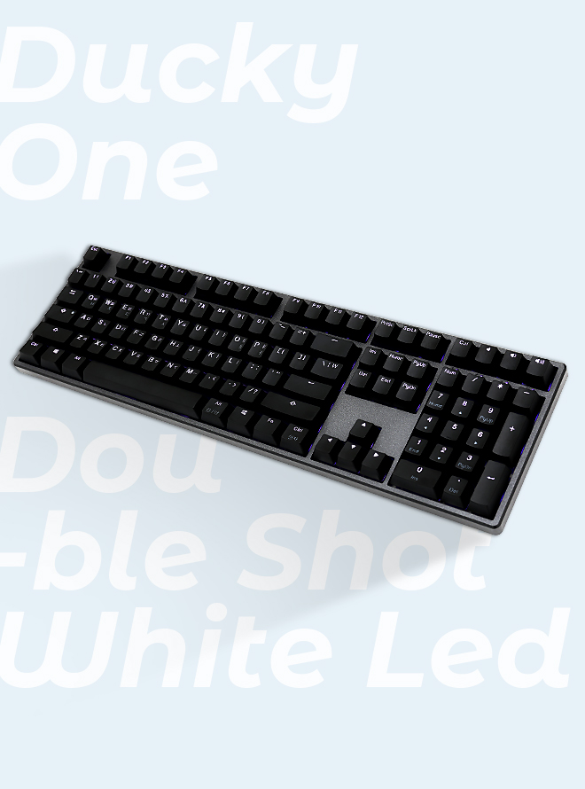 DUCKY ONE DOUBLE SHOT WHITE LED PBT 이중사출 한글 적축