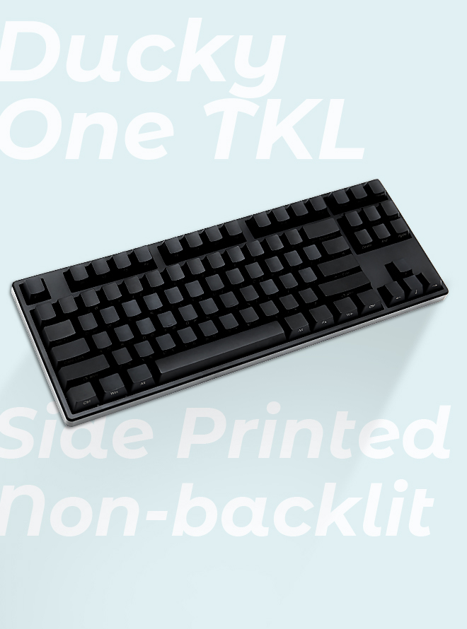 DUCKY ONE TKL 측각 NON-BACKLIT PBT 한글