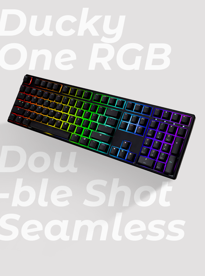 DUCKY ONE RGB SEAMLESS PBT 이중사출 한글 갈축