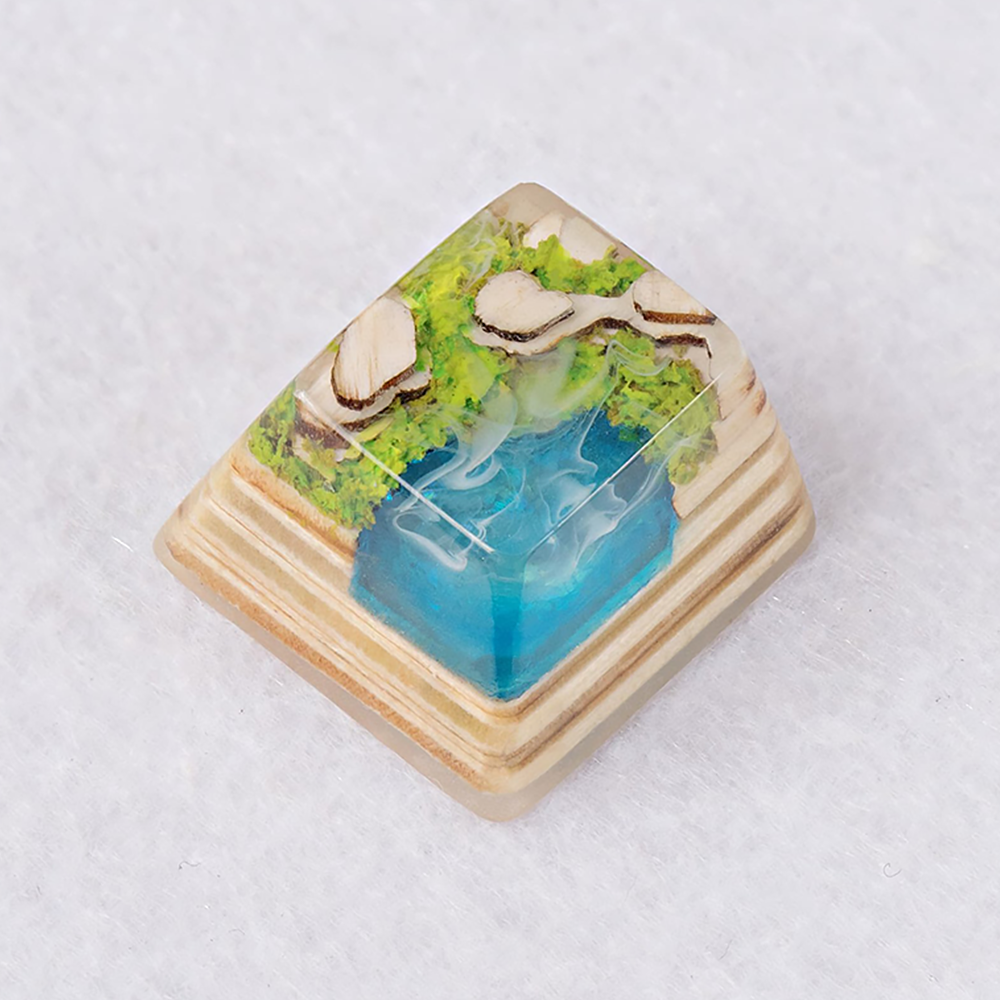 [한정수량 예약판매] Artifact series - Forbidden Realm artisan keycap Cyan Lake