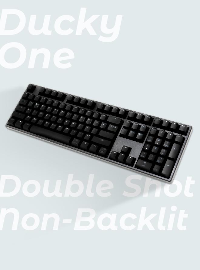 [리퍼S+등급] Ducky One Double Shot Non-Backlit PBT 이중사출 한글 갈축