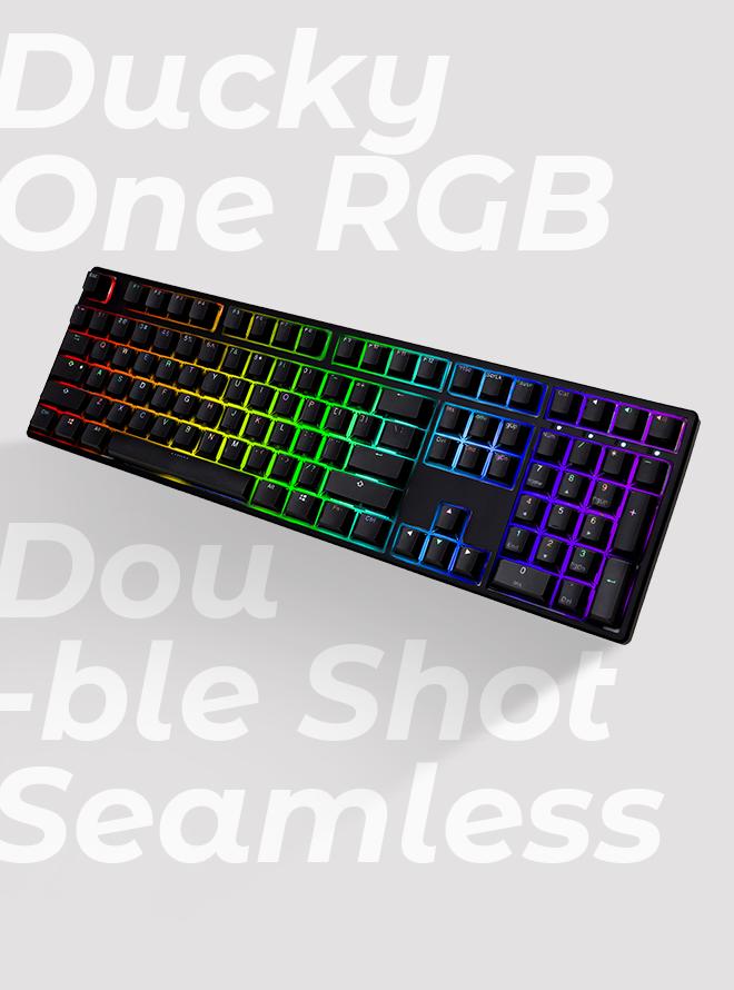 [리퍼S+등급] DUCKY ONE RGB SEAMLESS PBT 이중사출 한글 적축