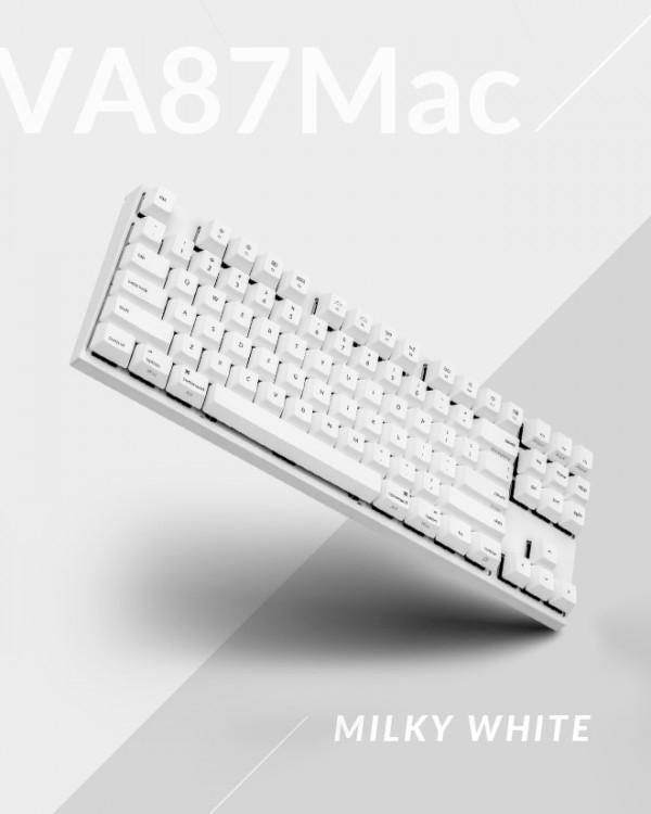 VARMILO VA87MAC 밀키 화이트 PBT 염료승화 영문 적축