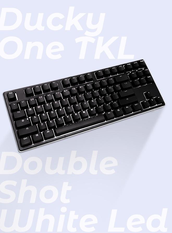 [리퍼S등급] DUCKY One TKL Double Shot WHITE LED PBT 이중사출 한글 청축