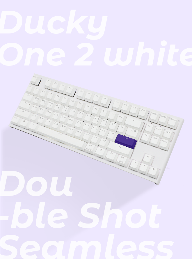 DUCKY ONE 2 TKL SEAMLESS WHITE PBT 이중사출 한글