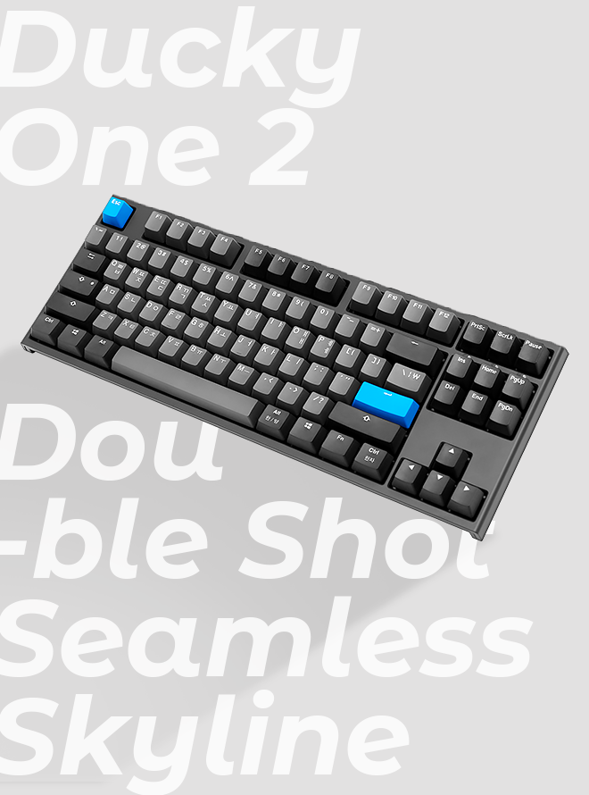 DUCKY ONE 2 TKL SEAMLESS SKYLINE PBT 이중사출 한글