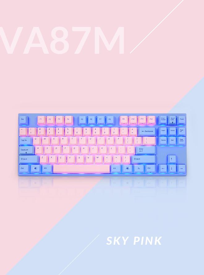 VARMILO VA87M 스카이 핑크 PBT 염료승화 영문