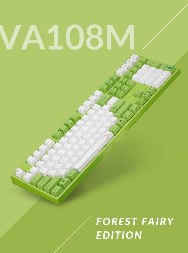 VARMILO VA108M FOREST FAIRY PBT 염료승화 영문 저소음적축