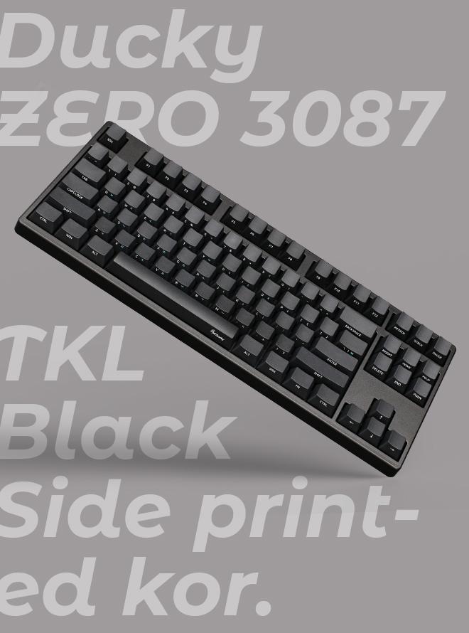 DUCKY ZERO 3087 TKL BLACK PBT 측각 한글