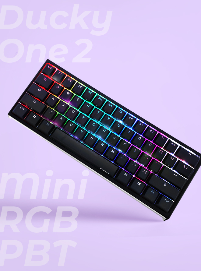 DUCKY ONE 2 MINI RGB PBT 이중사출 영문