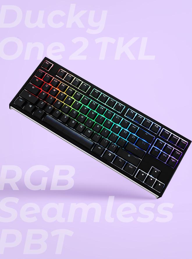 DUCKY ONE 2 TKL RGB SEAMLESS PBT 이중사출 한글