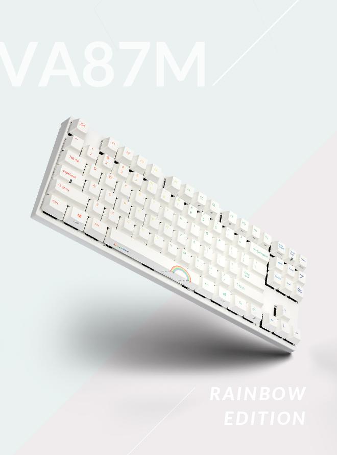 VARMILO VA87M 레인보우 에디션 NON LED PBT 염료승화 영문