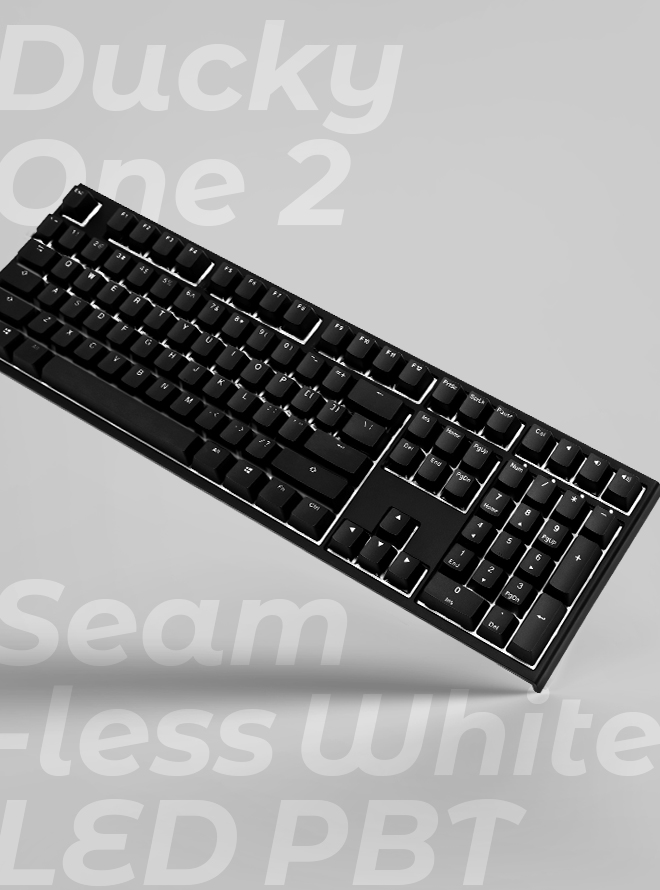 DUCKY ONE 2 SEAMLESS WHITE LED PBT 이중사출 한글