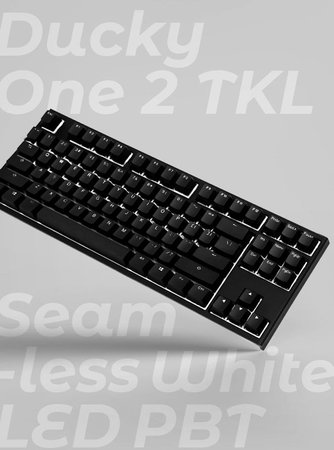 DUCKY ONE 2 TKL SEAMLESS WHITE LED PBT 이중사출 한글