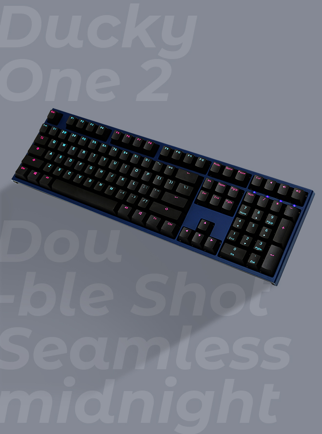 DUCKY ONE 2 SEAMLESS MIDNIGHT PBT 이중사출 영문