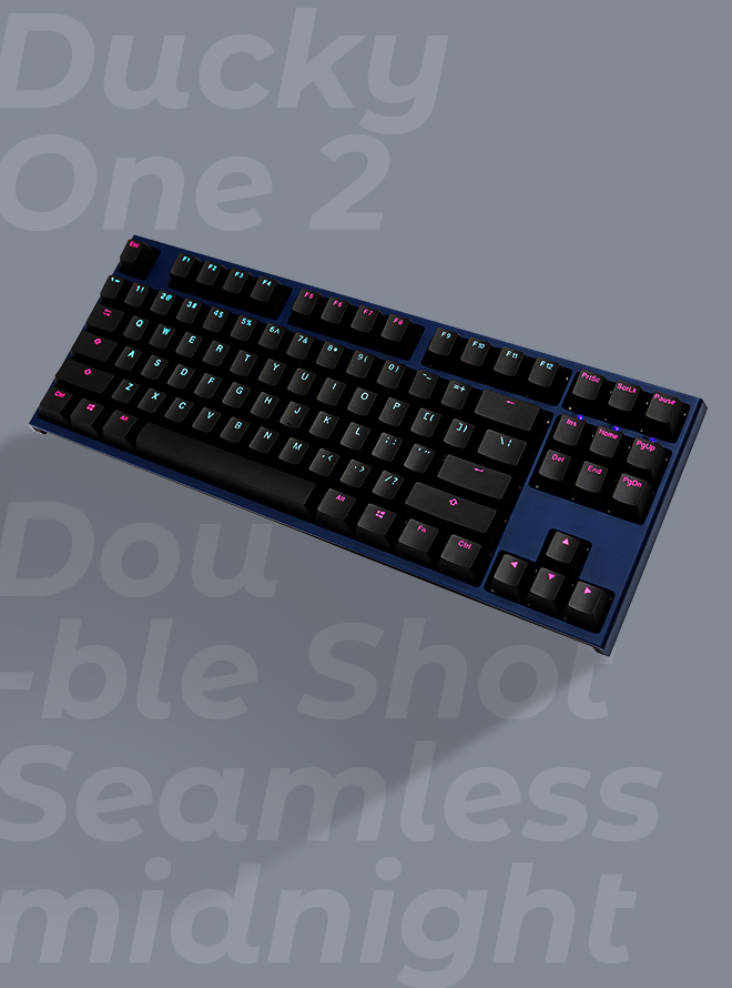 DUCKY ONE 2 TKL SEAMLESS MIDNIGHT PBT 이중사출 영문