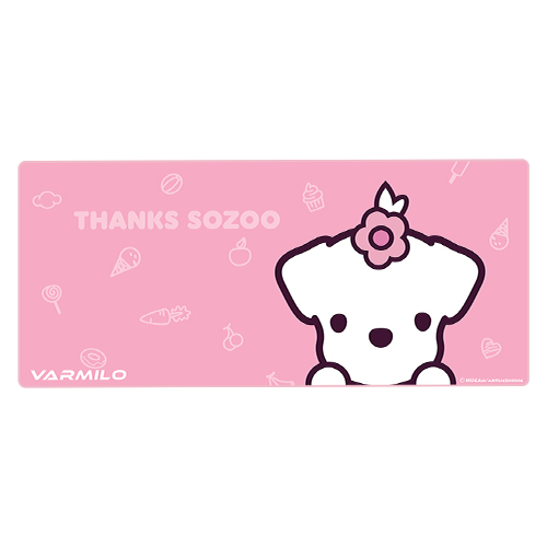 VARMILO MASSIVE DESK PAD THANKS SOZOO PINK