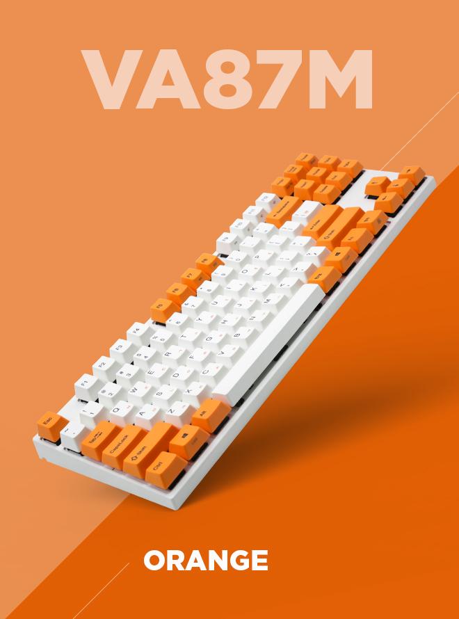 VARMILO VA87M ORANGE PBT 염료승화 한글 적축