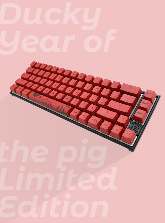 DUCKY YEAR OF THE PIG LIMITED EDITION PBT 염료승화 영문