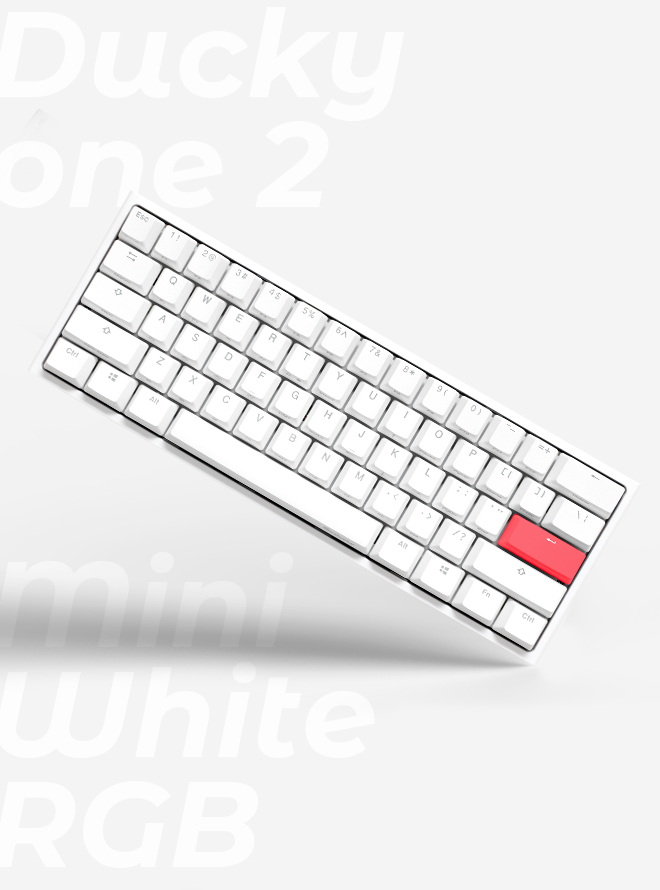 DUCKY ONE 2 MINI RGB PURE WHITE PBT 이중사출 영문