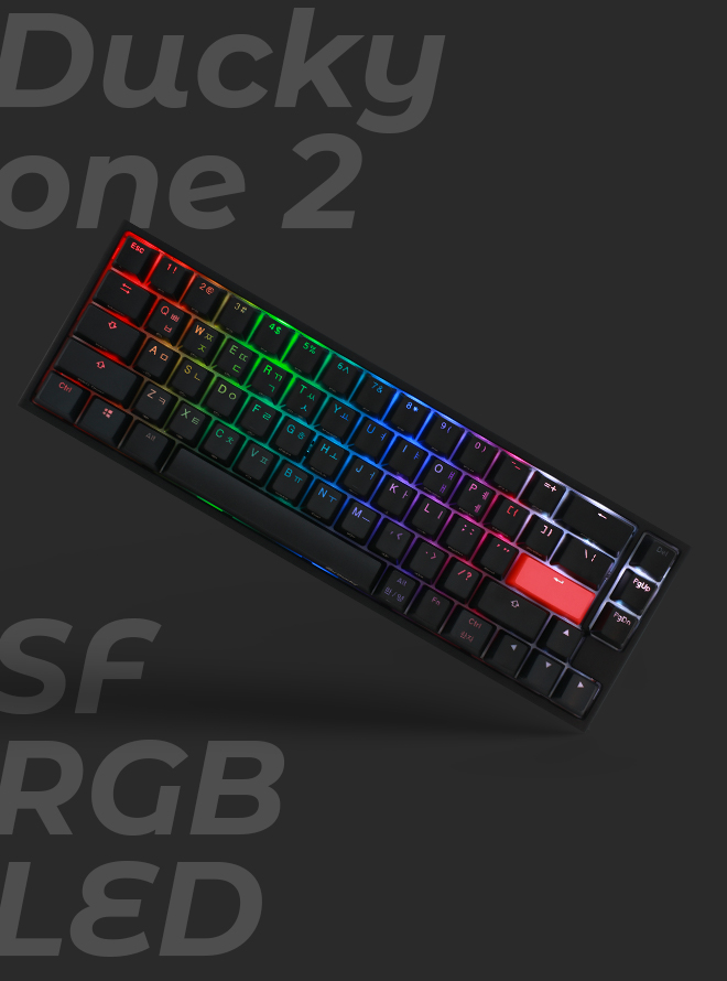 DUCKY ONE 2 SF RGB PBT 이중사출 한글