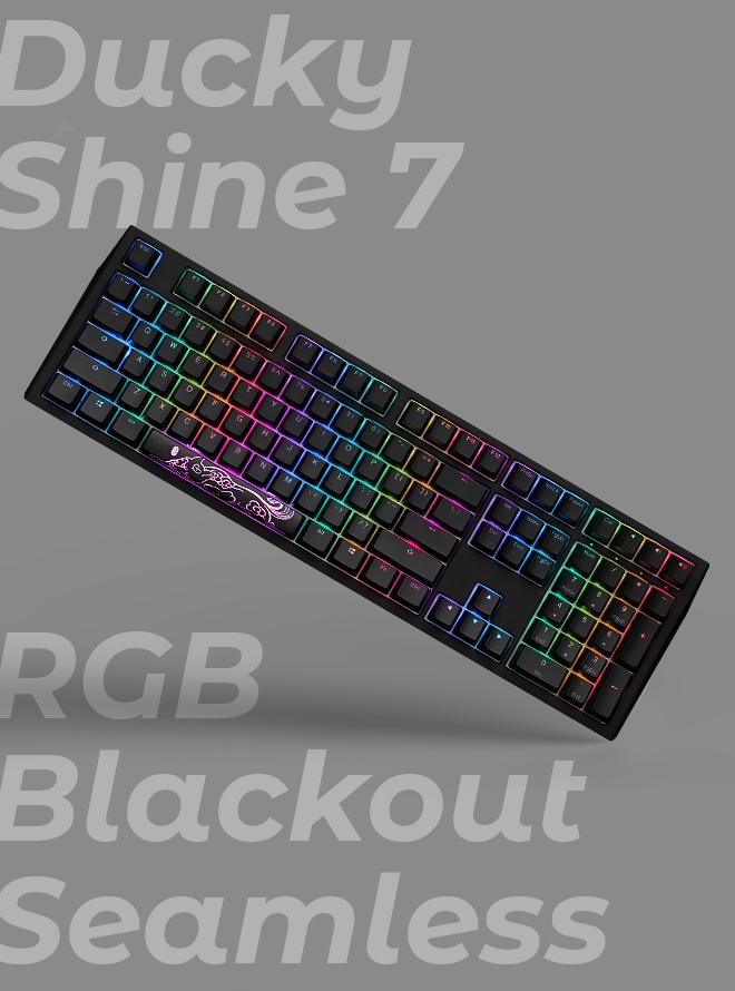 [리퍼S+등급] DUCKY SHINE 7 RGB BLACKOUT SEAMLESS PBT 이중사출 영문 적축