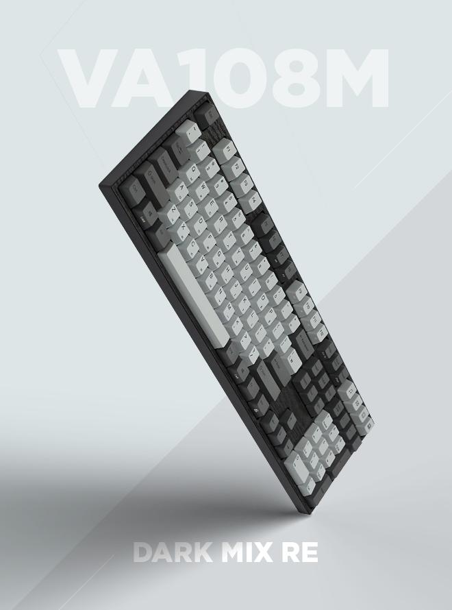 [리퍼S+등급] VARMILO VA108M 다크믹스 RE PBT 염료승화 한글 저소음적축