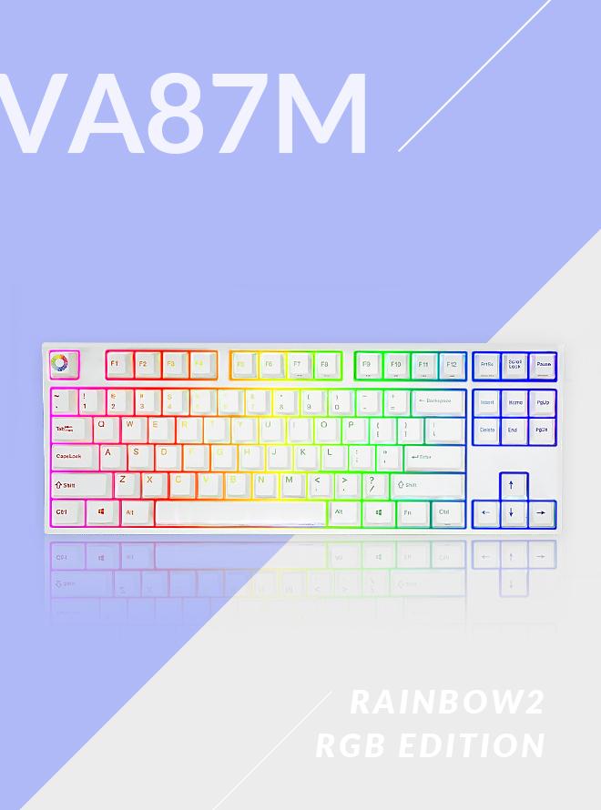 [리퍼S+등급] VARMILO VA87M RAINBOW 2 RGB LED PBT 염료승화 영문 적축
