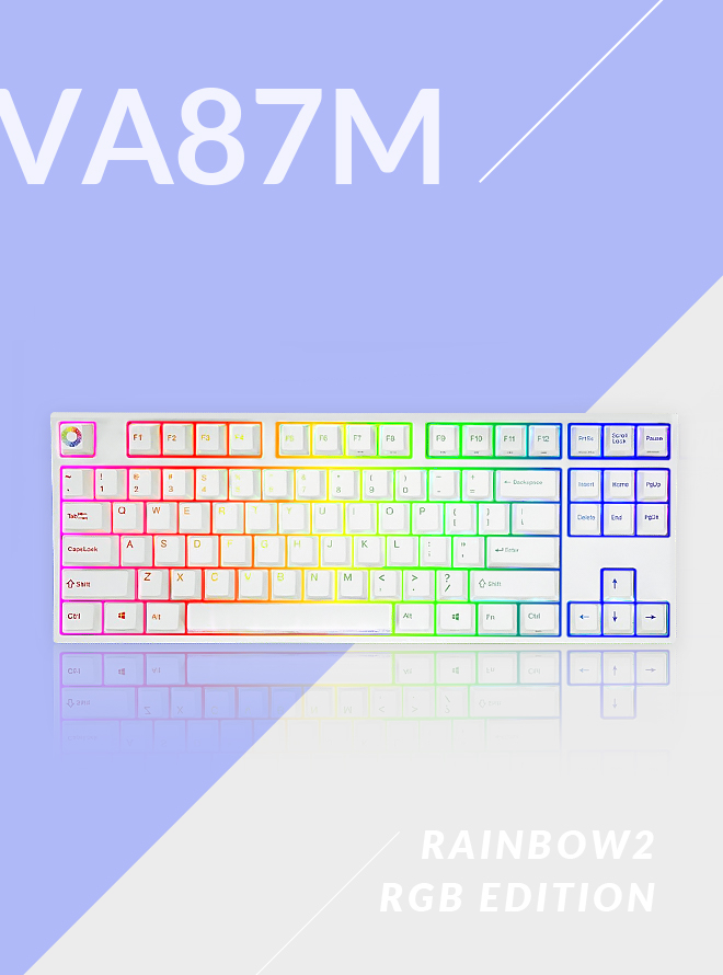 [리퍼S등급] VARMILO VA87M RAINBOW 2 RGB LED PBT 염료승화 영문 스피드실버축