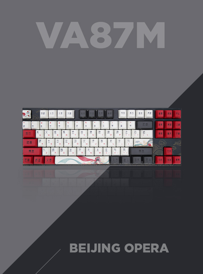 VARMILO VA87M Arts Collection Beijing Opera 염료승화 영문