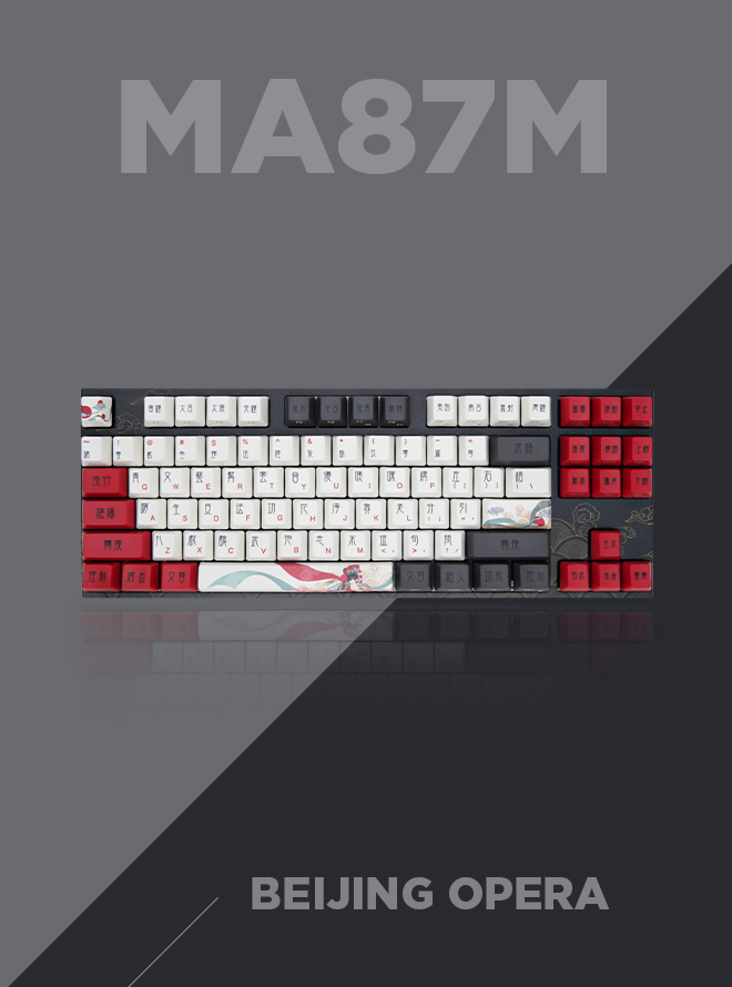 VARMILO MA87M Arts Collection Beijing Opera 염료승화 영문 무접점