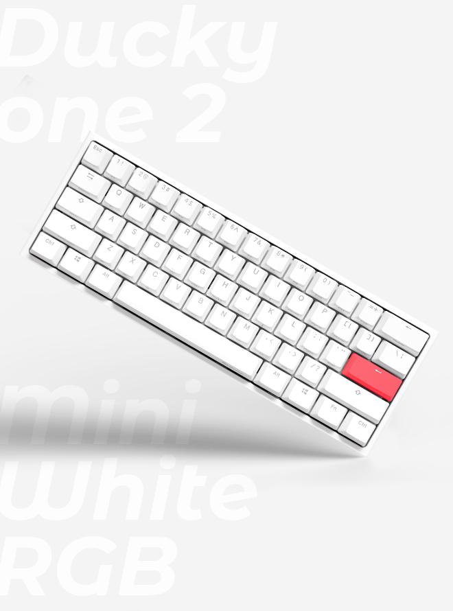 타임어택 특가할인 DUCKY ONE 2 MINI RGB PURE WHITE PBT 이중사출 영문